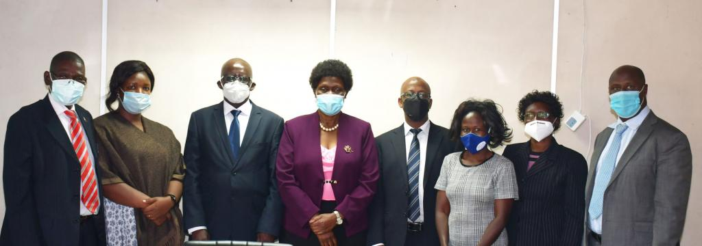 Minister of State for Environment Hon. Beatrice Anywar meets the 8th NEMA Board of directors